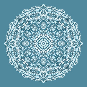 Декоративный фон с кружевным дизайном doiley