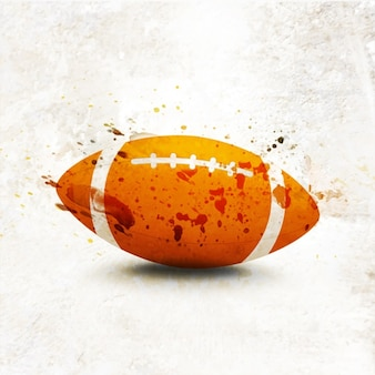 Decorative background with american football ball