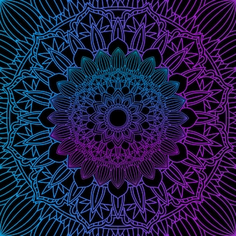Decorative background with a colourful mandala design