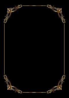 Decorative background with an elegant gold border