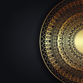 Decorative background with an elegant mandala design