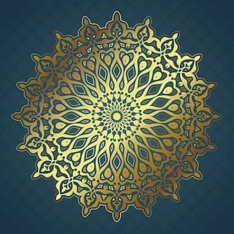 金の曼荼羅のデザインと装飾的な背景