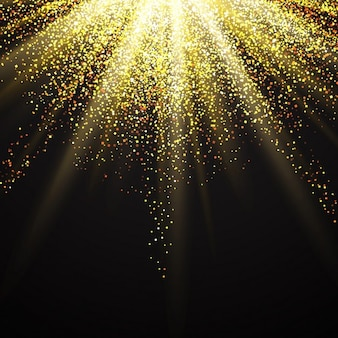 Decorative background with golden glitter