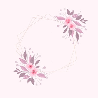 Decorative background with a hand painted watercolour floral design