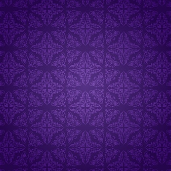 Decorative background with a purple damask pattern