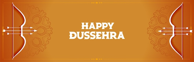 Decorative banner for indian festival of dussehra
