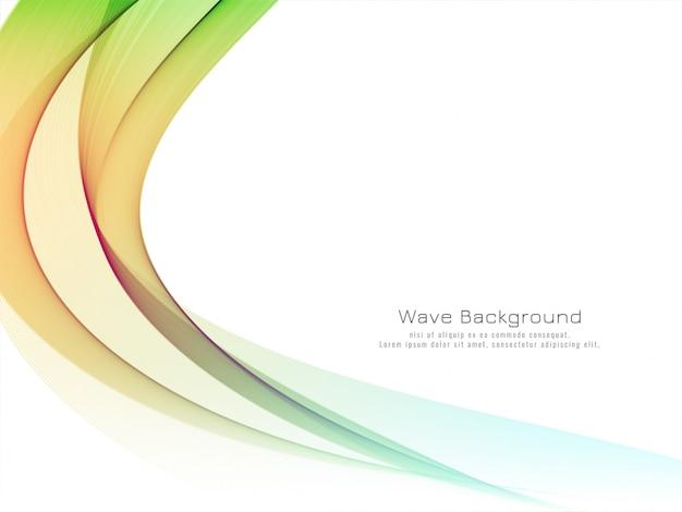 装飾的な美しいカラフルな波背景