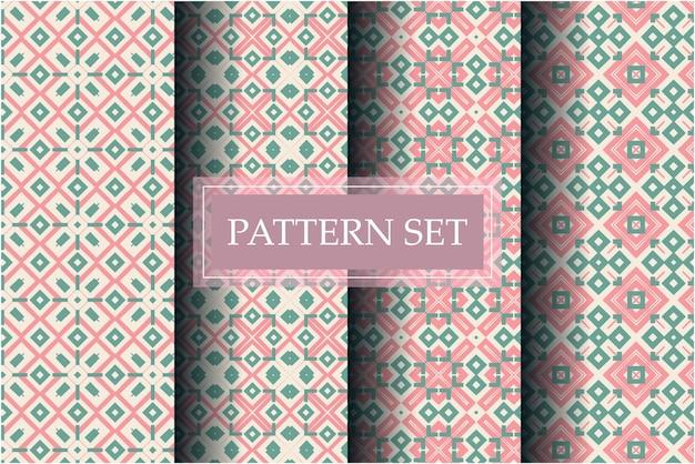 抽象的なスタイルで設定された装飾的な美しいパターン