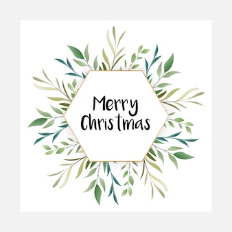 Decorative beautifully designed merry christmas floral artwork
