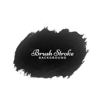装飾的な黒いブラシストローク水彩モダンなデザインデザイン