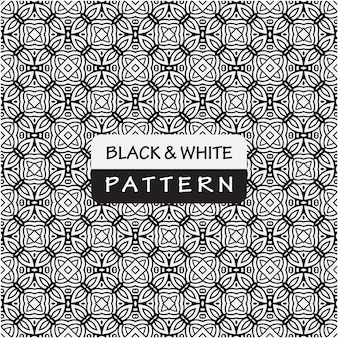 Decorative black and white pattern background