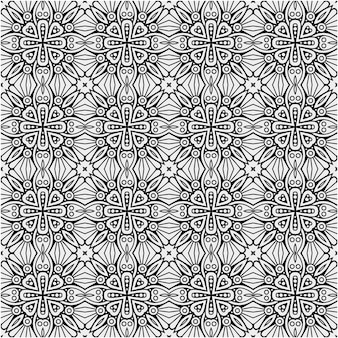 Decorative black and white pattern design with abstract style