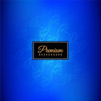 Decorative blue luxury premium background