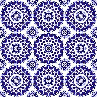 装飾的な青いパターン