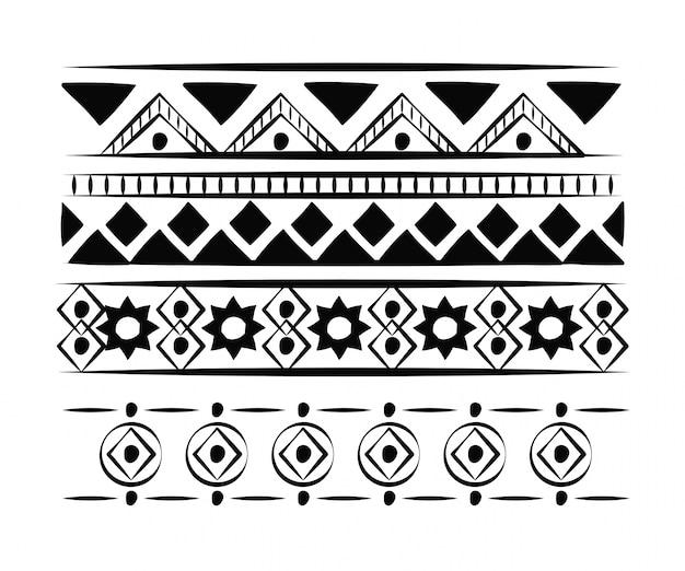 Decorative boho pattern background