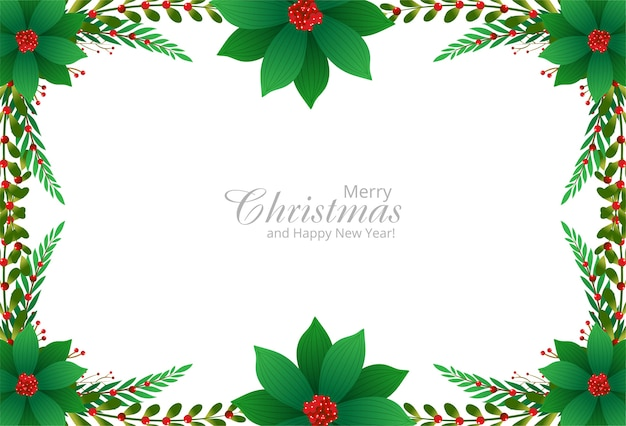 Decorative border from a christmas ornaments branches