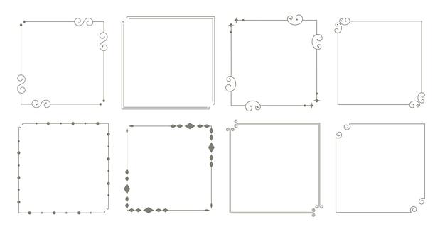 Декоративные бордюры цветочные старинные рамки набор из восьми