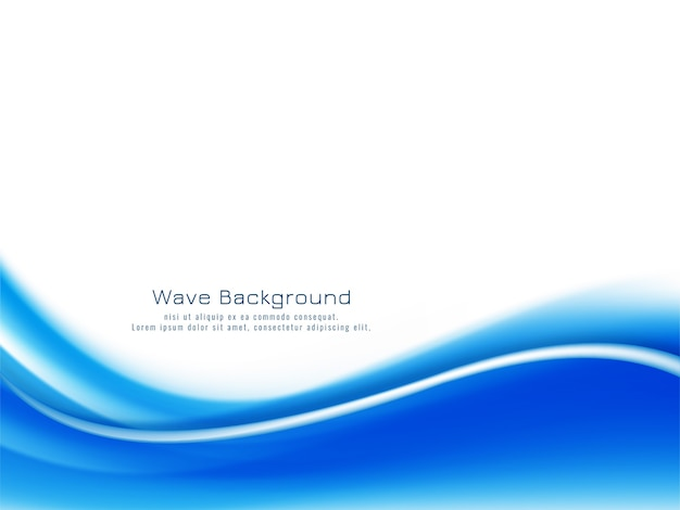 Decorative bright blue wave design background