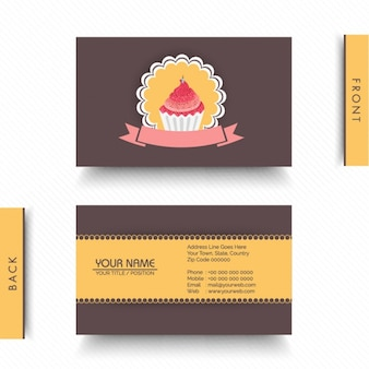 Decorative business card for bakery