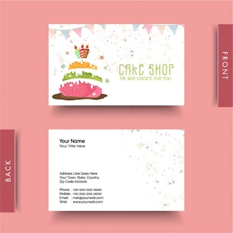 Decorative business card for cake shop