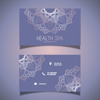 Декоративная визитная карточка с дизайном мандалы