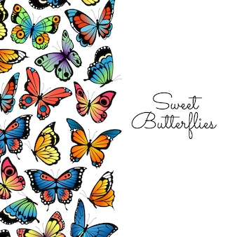 Decorative butterflies background