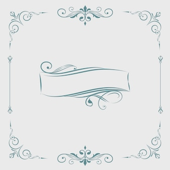 Decorative calligraphic ornament banner vector