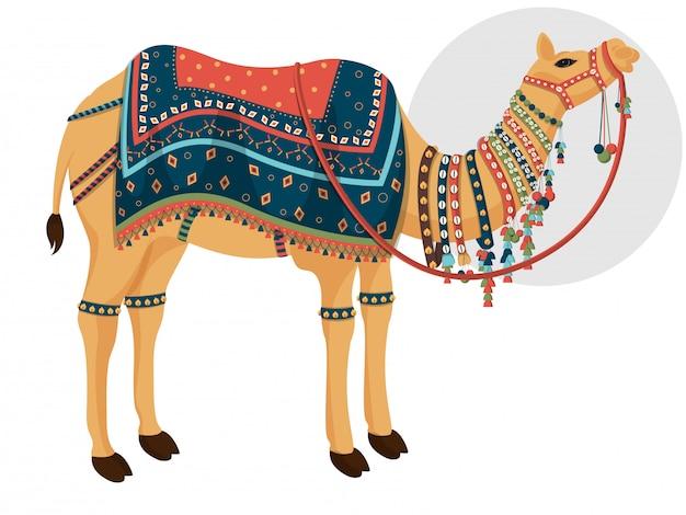 装飾的なラクダのキャラクター