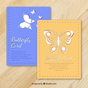Carte decorative con dettagli di farfalle