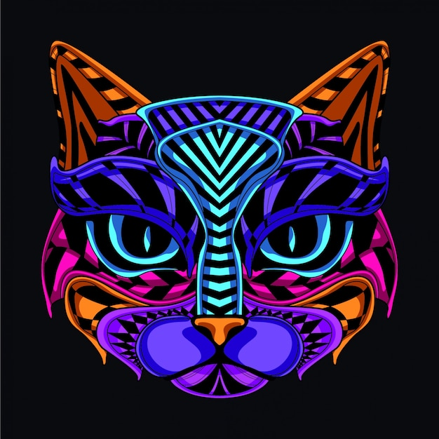 Decorative cat illustration