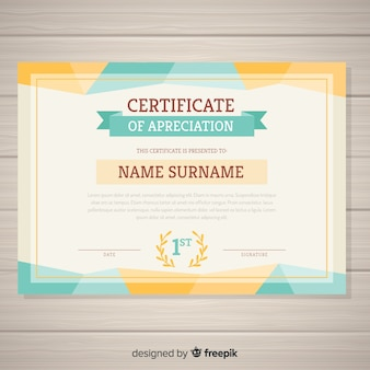 Decorative certificate template