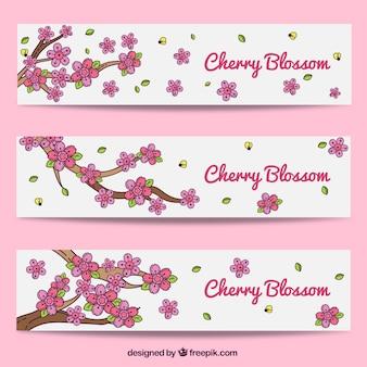 装飾桜のバナー
