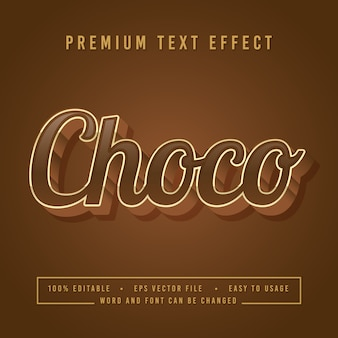 Decorative choco font