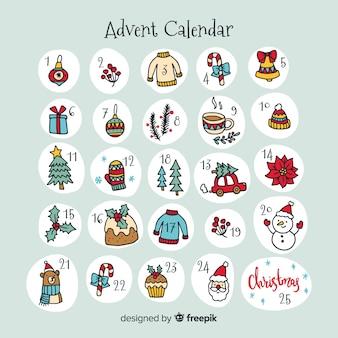Decorative christmas advent calendar