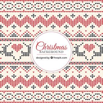 クロスステッチと装飾的なクリスマスの背景