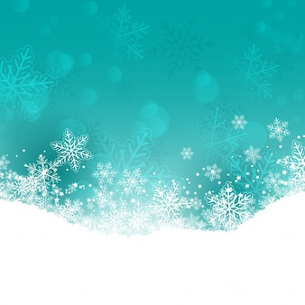 Decorative christmas background with snowflakes