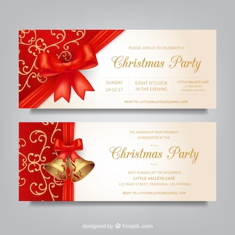 Decorative christmas banners