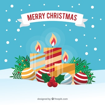 Decorative christmas candles background