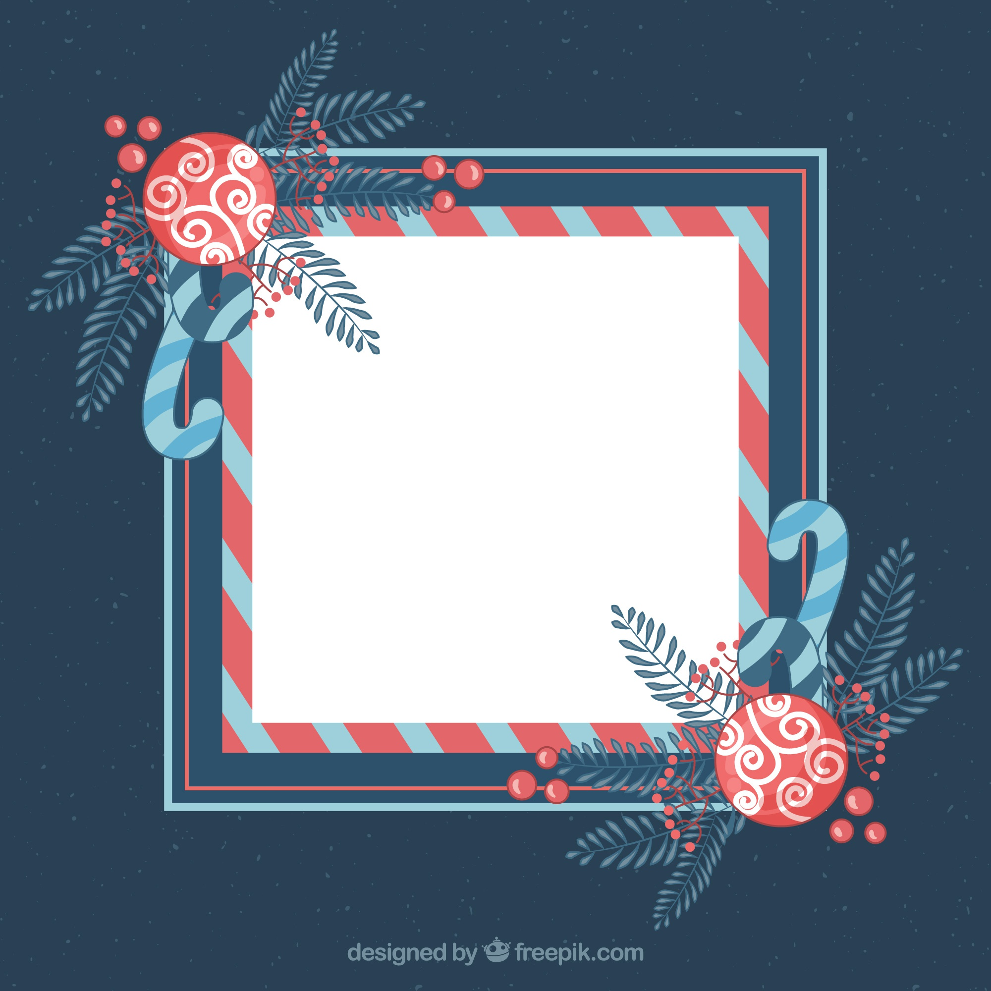 Decorative christmas frame