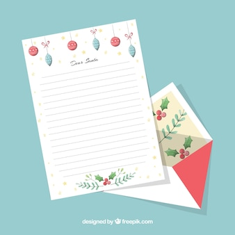 Decorative christmas letter template
