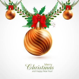 Decorative christmas ornaments branches and balls background