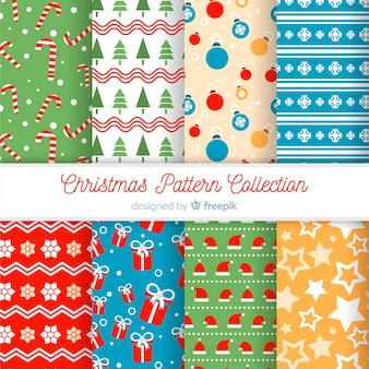 Decorative christmas pattern collection