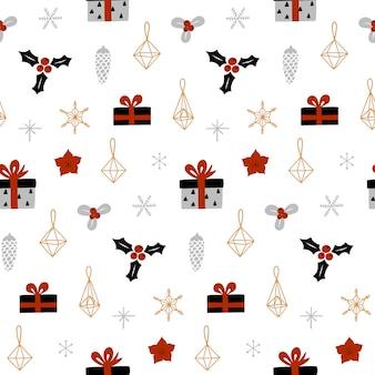 Decorative christmas seamless pattern.