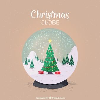 Decorative christmas snowglobes background