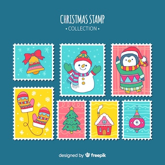 Decorative christmas stamp collection