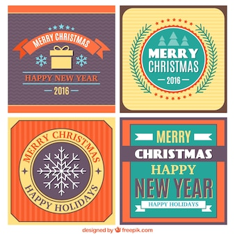 Decorative christmas stickers pack