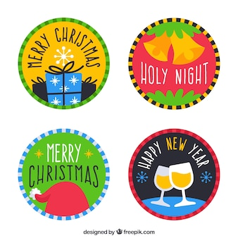 Decorative christmas stickers set