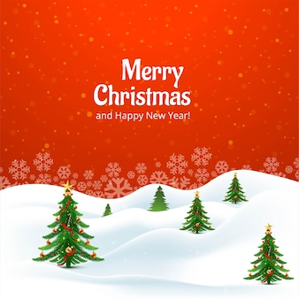 Decorative christmas tree holiday card background