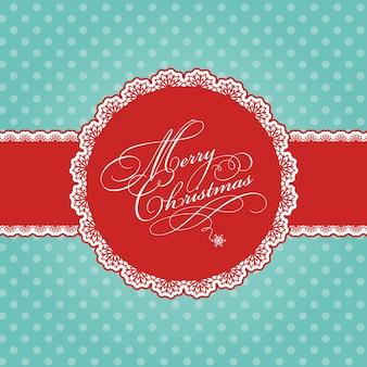 폴카 도트 장식 크리스마스