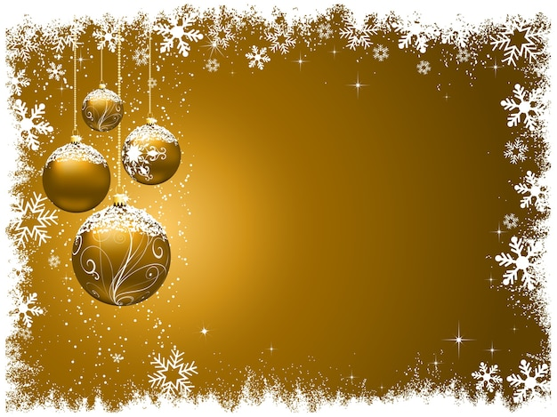 Natale decorativo con palline innevate
